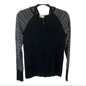 Telluride Hooded Wool Blend Sweater sz M